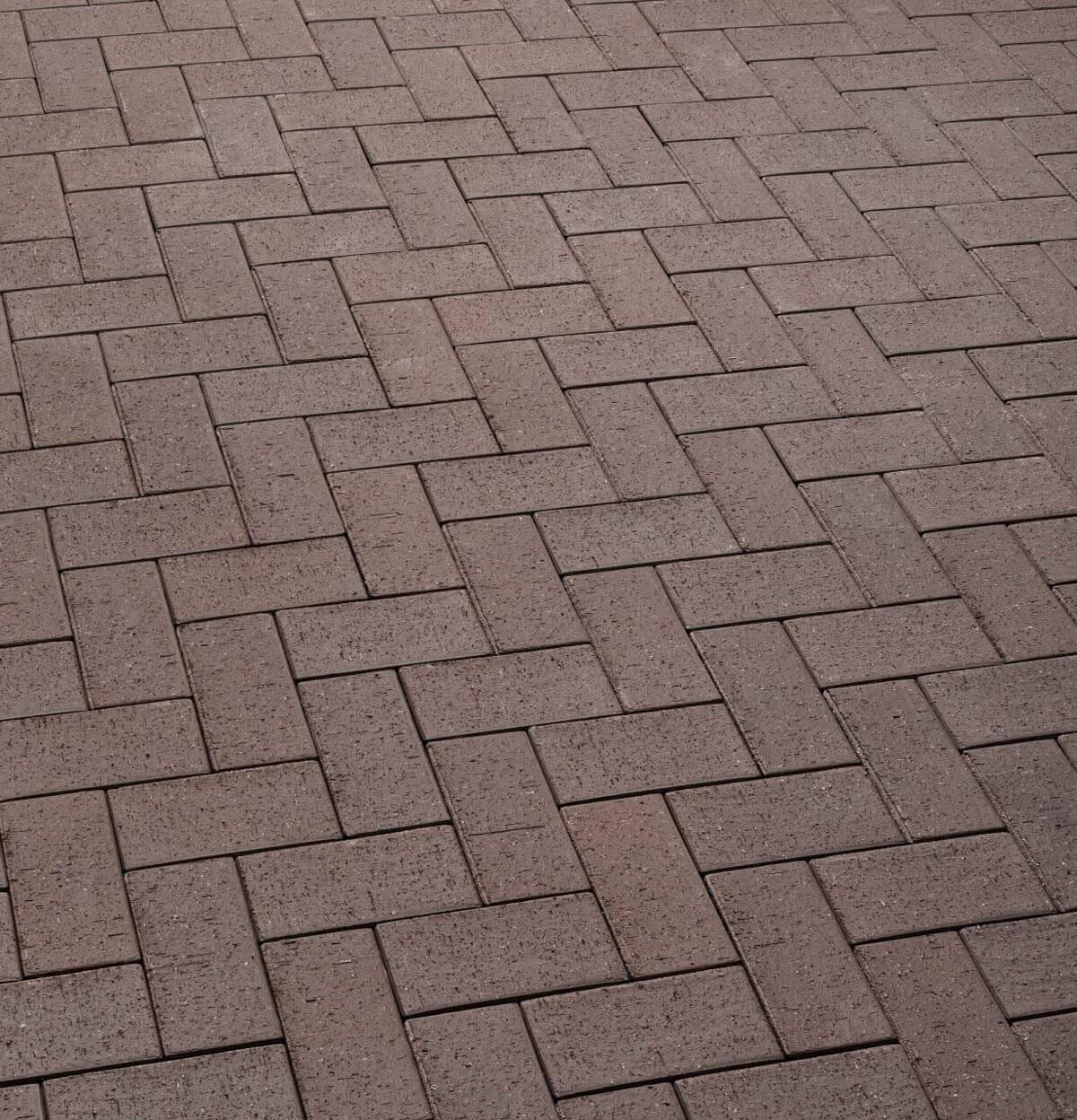 Feldhaus Klinker - P502SKF, Umbra plano, темно-коричневый, с оттенками, 200x100x40 - Клинкерная тротуарная брусчатка