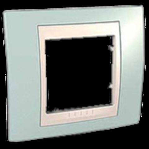 Рамка на 1 пост. Цвет Морская волна/бежевый. Schneider electric Unica Хамелеон. MGU6.002.570
