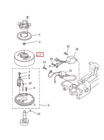 Маховик   для лодочного мотора T2,5 SEA-PRO (5-3)
