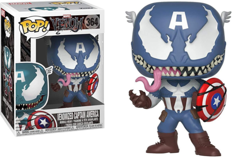 Фигурка Funko POP! Bobble: Marvel: Venom: Venom/Captain America 32686