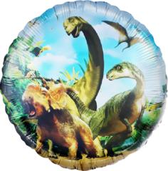 К 18''/46см, Круг, Динозавры Юрского периода, 1 шт.