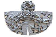 Палантин женский шерстяной голубой (0651 PAL 6)