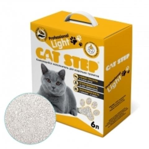 Наполнитель для кошачьих туалетов Cat Step Professional Light 6L, бентонитовый комкующийся
