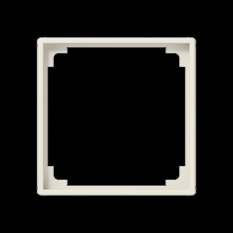 Рамка на 1 пост, промежуточная, для изделий 45х45mm. Цвет Слоновая кость. JUNG AS. A590ZA