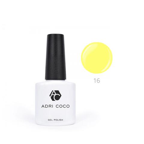 Гель-лак ADRICOCO Pretty dolly №16 неоновый желтый (8 мл.)