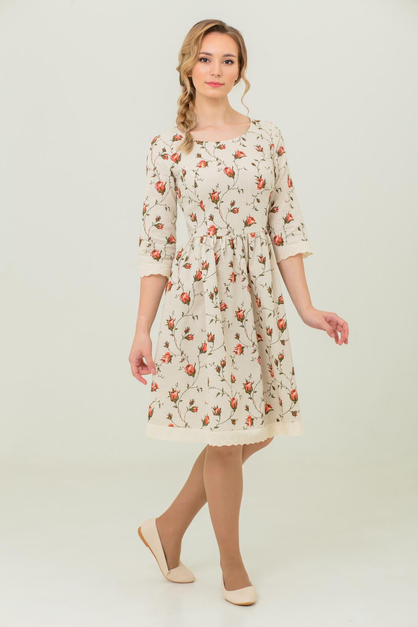 Платье льняное Мрия в русском стиле