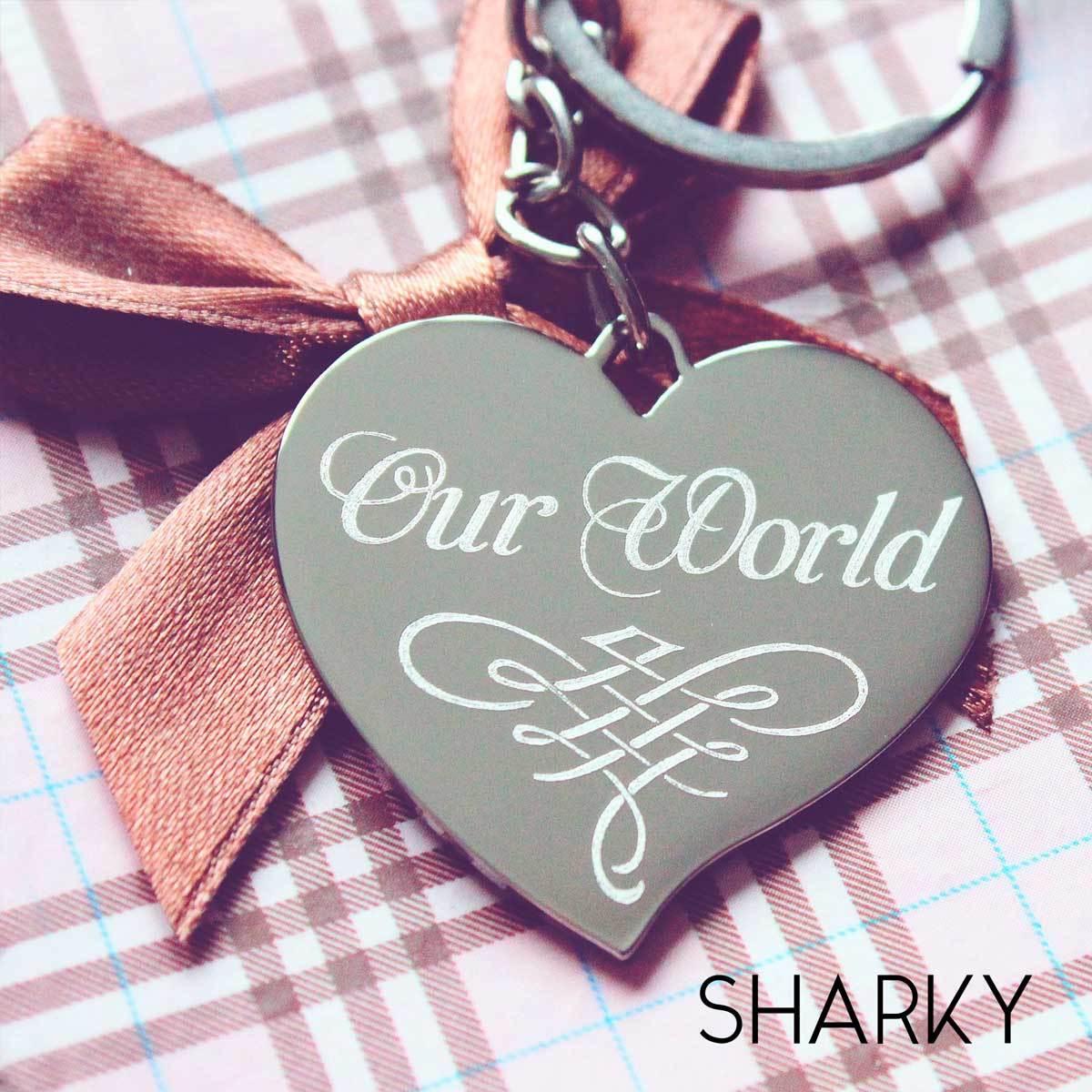 Брелок Сердце с гравировкой для любимой