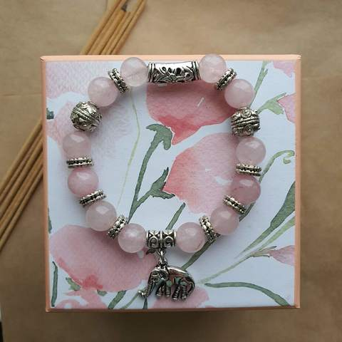 Браслет Пандора Розовый кварц - любовная защита и процветание