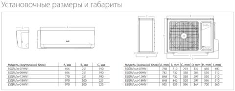 Кондиционер  BALLU BSGR-30HN1 комплект