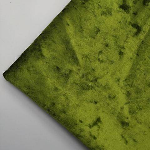 Бархат мраморный стрейч, 10- ярко-оливковый