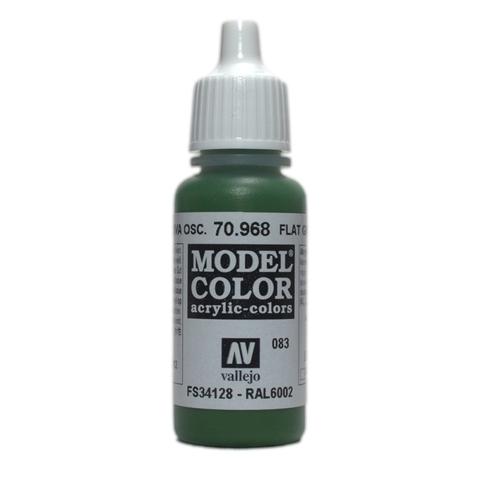 Model Color Flat Green 17 ml.