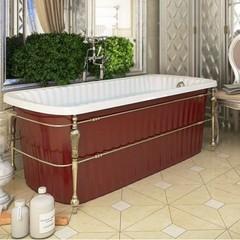 Ванна Migliore Olivia console 24267 174x80cm. бронза/красная акриловая отдельно стоящая