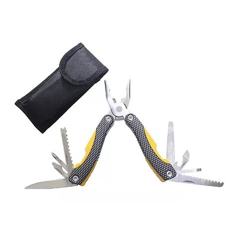 Мультитул Stinger, желто-черный, 9 инструментов, нейлоновый чехол
