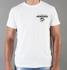 Футболка с принтом НХЛ Питтсбург Пингвинз (NHL Pittsburgh Penguins) белая 0010