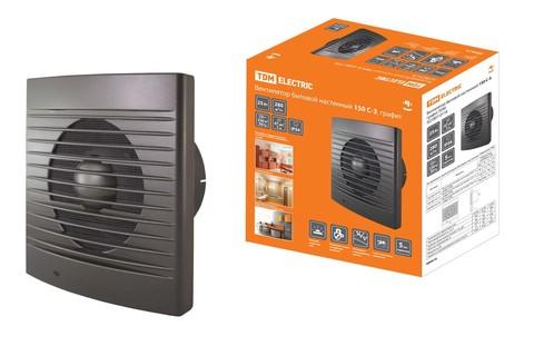 Вентилятор бытовой настенный 150 С-3, графит TDM