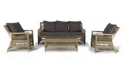 Комплект плетеной мебели на 5 персон 4sis Гранд Латте