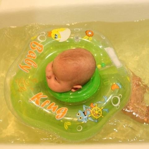 Круг на шею для плавания Baby-Krug 3D, розовый, от 3 мес до 6 лет