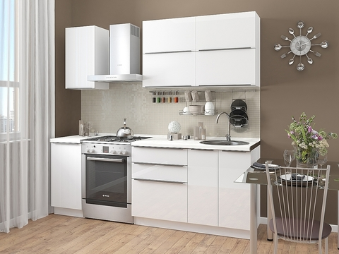 Кухня Фьюжн-1 белый, brilliant