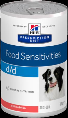 Влажные корма Ветеринарный корм для собак с аллергическими реакциями Hill`s Prescription Diet d/d Canine Salmon Formula, с лососем дд_лос.png