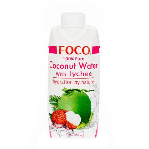 FOCO кокосовая вода с соком личи 330 мл
