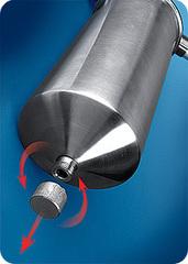 Фильтр Гейзер Тайфун 20ВВ (корпус нерж.сталь с хомутом, Арагон 3, скоба), арт.32067