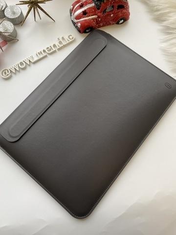 Папка конверт для MacBook 16'' Wiwu Skin Pro2  Leather /gray/