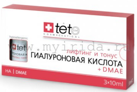 Гиалуроновая кислота + ДМАЕ (Hyaluronic Acid + DMAE) Tete (Швейцария) 30 мл