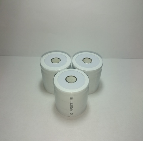 Аккумулятор 1/2D  Ni-Mh 2500mAh 1,2V 3Wh (35х32,4 мм)