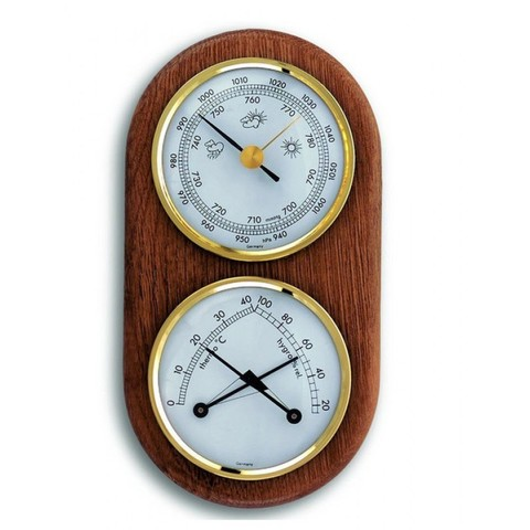 Аналоговая метеостанция TFA 20.1051, деревянная