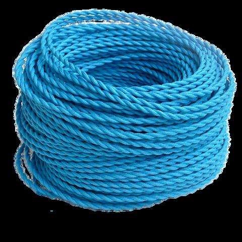 Витой ретро провод (Голубой)