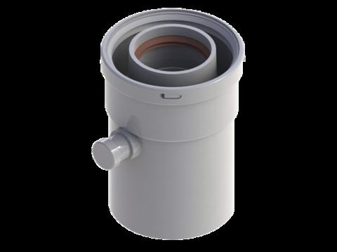 Конденсатоотводчик горизонтальный диам.60/100 RTF08.003 - RoyalThermo