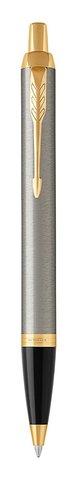 Набор с гравировкой: Ежедневник недатированный и Шариковая ручка Parker IM Metal, цвет: Brushed Metal GT123