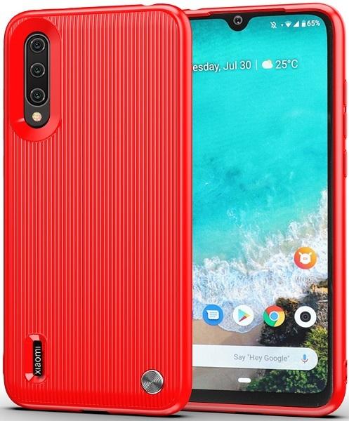 Чехол для Xiaomi Mi A3 (CC9E) цвет Red (красный), серия Bevel от Caseport