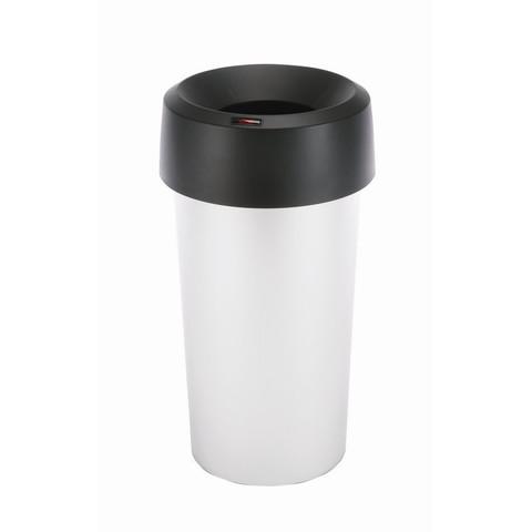 Контейнер для мусора и отходов Vileda Professional Ирис 50 л металлизированный пластик с воронкообразной черной крышкой (38x73 см, арт. производителя 145088)