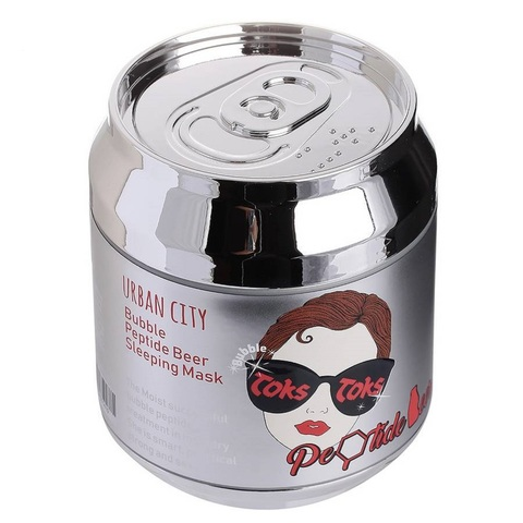 Baviphat Urban City Bubble Peptide Beer Sleeping Mask пузырьковая ночная маска с пептидами
