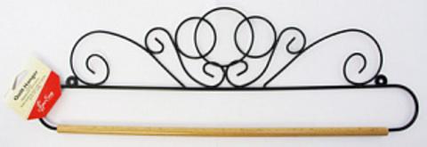 Хангер фигурный для лоскутного панно или вышивки, ширина 45,7 см (арт ERQH30.18BLK)