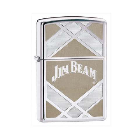 Зажигалка Zippo Jim Beam High Polish Chrome