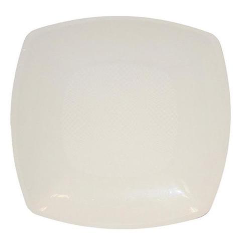 Тарелка одноразовая пластиковая глубокая белая 180 мм 12 штук в упаковке
