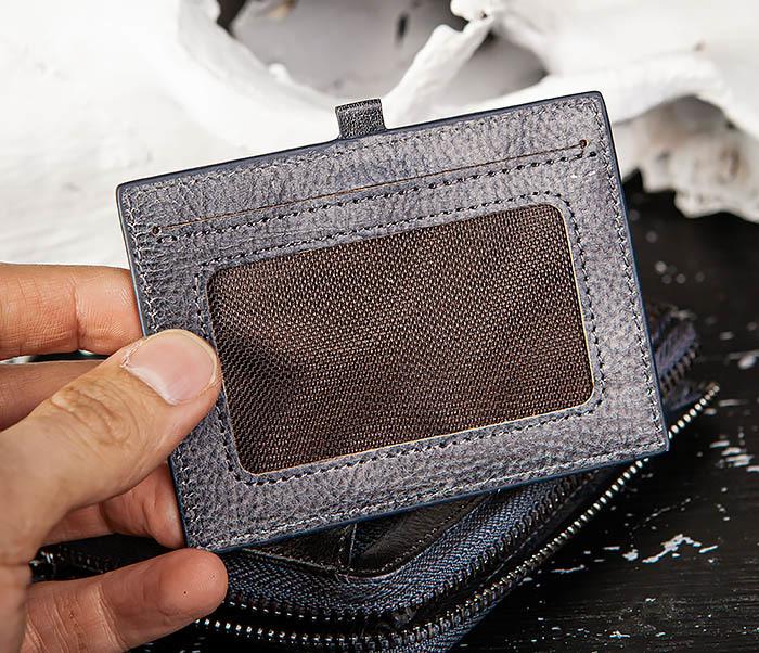 WL331-3 Мужской кошелек из кожи со вкладышем и монетницей фото 06