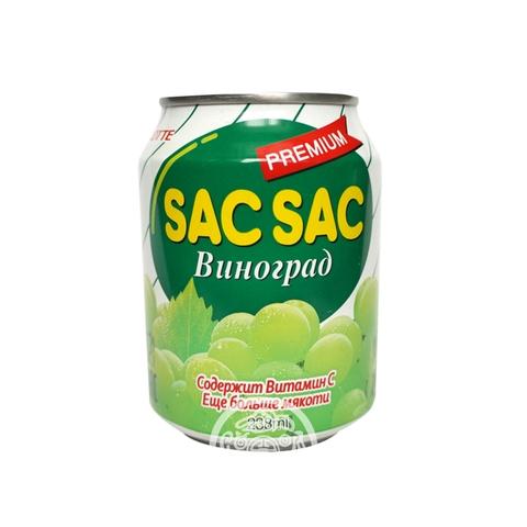 Напиток негазированный SAC SAC с кусочками винограда 238мл Lotte Корея