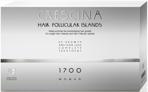 КРЕСЦИНА КОМПЛЕКС HFI ДЛЯ ЖЕНЩИН Дозировка 1700 / Crescina Hair Follicular Islands Complex 1700