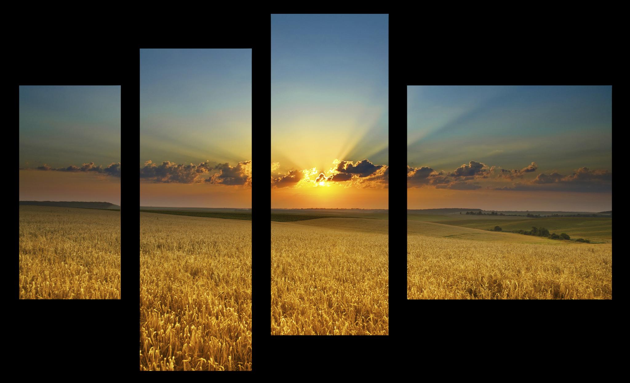 """Природа Модульная картина """"Летний закат"""" М1100_M_загибы_90х60.png"""