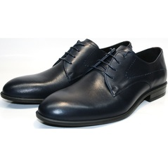 Синие мужские туфли Икос 3360-4.