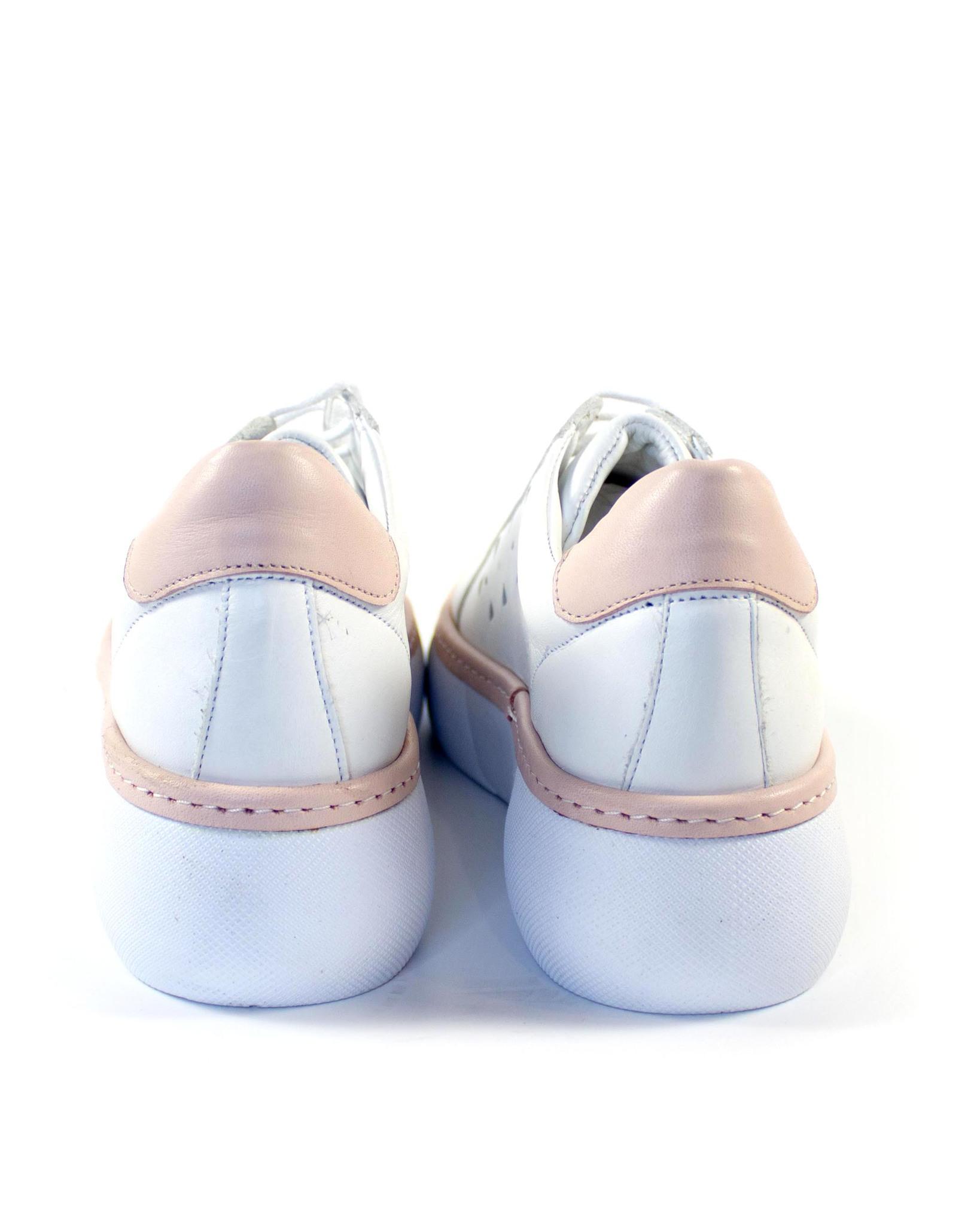 бело-розовые кеды SM