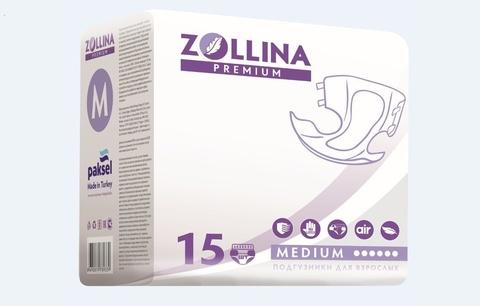 ZOLLINA Premium M (до 120 см), подгузники памперсы для взрослых
