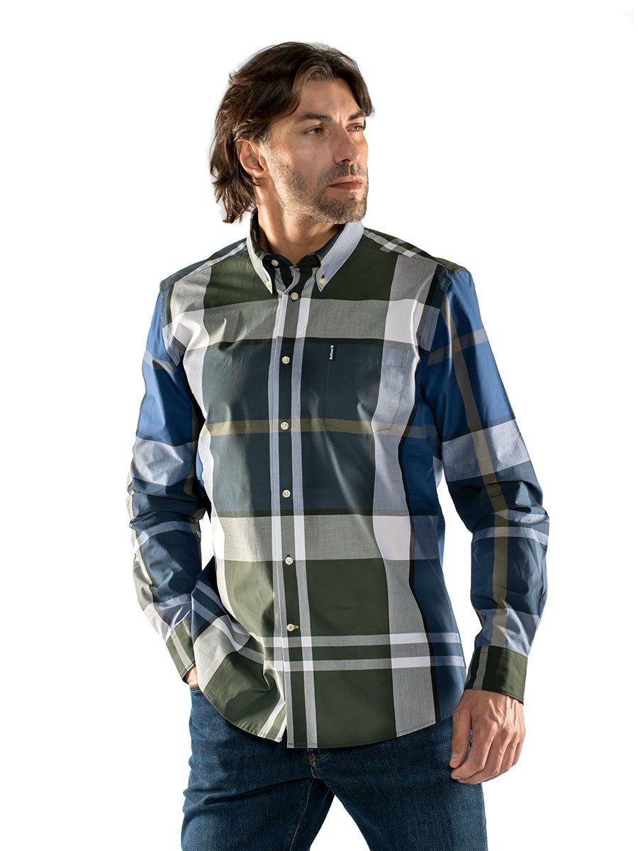 Barbour рубашка Tartan 12 Tailored MSH4895/GN13