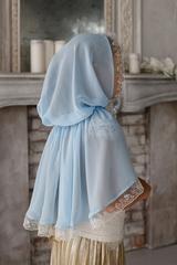 Платок голубой