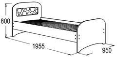 Кровать одинарная