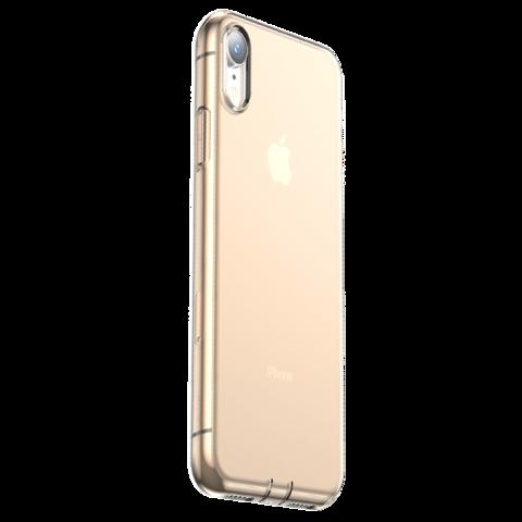 Baseus / Чехол Baseus Glaze Simplicity (dust-free) для iPhone XR | Прозрачный золото