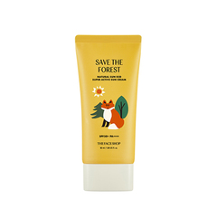 Сонлцезащитный крем THE FACE SHOP My Woodland Friends Natural Sun Eco Super Active Sun Cream SPF50+ PA++++ 50ml
